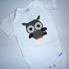 Owl Applique Onesie.
