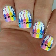 Crayola Colors - Back to School Nails That Will Ace Your First Day - Photos