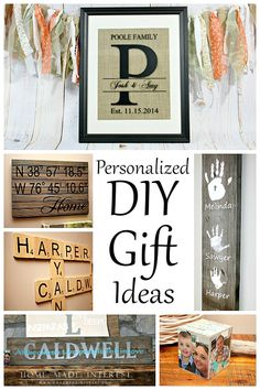 These personalized DIY gift ideas are easy crafts you can make for friends and family. It always means so much more when a you make a gift yourself and these simple tutorials will help you create something special to decorate their homes.