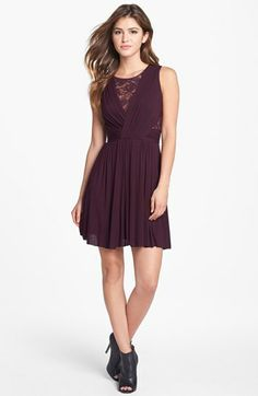 B44 Dressed by Bailey 44 Lace Inset Jersey Fit & Flare Dress available at #Nordstrom