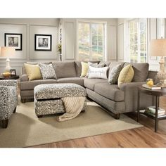 Franklin Julienne Sectional Sofa with Four Seats - Old Brick Furniture - Sectional Sofas