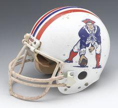 game worn 80's helmet New England Patriots...