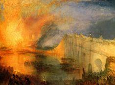 "JMW Turner ""The Burning of the Houses of Parliament, October 16, 1834"" 1834-5 (Philadelphia Museum Of Art)"