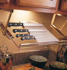 Image via  Extremely small galley kitchen storage. I would need to invest in pretty utensils | Kait's Kitchen ! | Kitchen Storage Spaces   Image via  Easy Storage Ideas   Image via  Ways