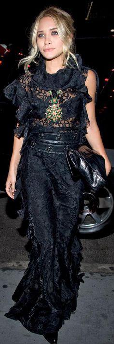Gorgeous! Lace via Ashley Olsen