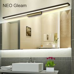 Cheap mirror light bathroom, Buy Quality mirror light directly from China light bathroom Suppliers: NEO Gleam White/Black Modern bathroom / toilet LED front mirror lights bathroom Aluminum mirror lights 0.4-1m 8-24W 85-265V