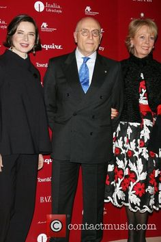 Fashion icon Isabella Rossellini honoured with the 'Life In I Style Icon Award' at Hearst Tower - New York. Isabella Rossellini, Umberto Vattani and Isabella Vattani wearing Michele Miglionico Haute Couture.