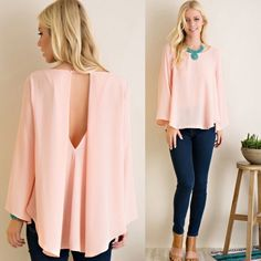 Blush Peek Back Blouse AVAILABLE in SMALL, MED, LARGE  •Blush Pink Color •Chiffon Style Flare Blouse •Key Hole Back •100% Polyester    SMALL:      MED:      LARGE:  SKU#  ••••••••••••••••••••••••••••••••••••••••  Hello! I'm Monika. I'm a Boutique Owner & an Entrepreneur Mentor. Welcome to my closet!   Let's keep in touch  Instagram: @monikarosesf  YouTube: MonikaRoseSF  Blog: www.MonikaRoseSF(dot)com Monika Rose SF Tops Blouses