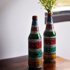 The decorative bottle can be used as a #vase and can be kept in your drawing room, bedside table etc. #Bottles