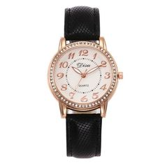 2018 Top Luxury Ladies Quartz Watch Women Brand Fashion Leather Watches High Quality Women Watches Reloj Mujer Relogio Feminino Simple Cheap Watches outfit accessories from Touchy Style store Cheap Watches For Men, Cute Watches, Vintage Watches, Rose Gold Watches, Black Watches, Quartz Watches, Watches Photography, Leather Watches, Women Brands