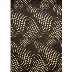 """Parallels PR27 Black / White Contemporary Rug Size: 5'6"""" x 7'5"""" Rectangle"""