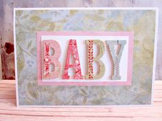 Baby Chipboard Card www.starrynightsstudio.blogspot.com
