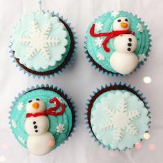 snowmen + snowflakes