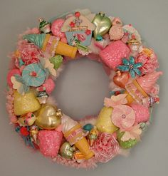 Sweet Candy Shop Wreath Holiday Wreath Glittered by treasured2, $175.00