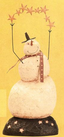 Reach for the stars, snowman!