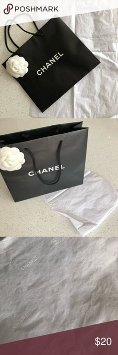 61af1d0105c3 Chanel Camellia Shopping Bag and Gift Tissue Set New gift set! Authentic  Chanel shopping bag