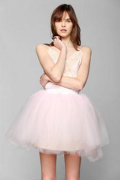 Urban Renewal Tulle Slip Dress
