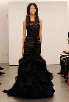 Венсана черное свадебное платье