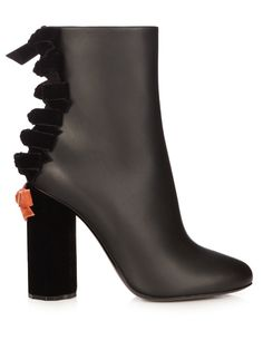 MARCO DE VINCENZO Velvet and leather ankle boots. #marcodevincenzo #shoes #boots
