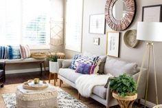 west elm - Boho Eclectic Style in Southern California Living Room Ideas 2019, Living Room Update, Living Room Inspiration, My Living Room, Living Room Decor, Cozy Living, Bedroom Decor, West Elm, Luxury Furniture