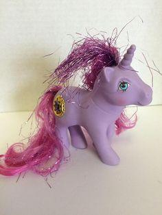 Vintage Hasbro My Little Pony, MLP Princess Misty Pony,Purple Unicorn mlp, Pink Tinsel Mlp, T Original My Little Pony, Hasbro My Little Pony, Purple Unicorn, Shrinky Dinks, Wood Stamp, Ink Stamps, Ty Beanie, Mlp, Pet Dogs