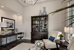 The den of The Isabella model at The Founders Club. A London Bay homes design in Sarasota, Florida