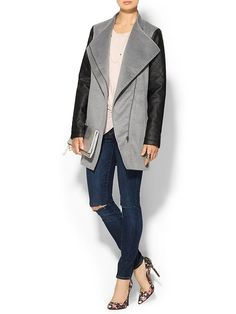 Vegan Leather Sleeve Jacket