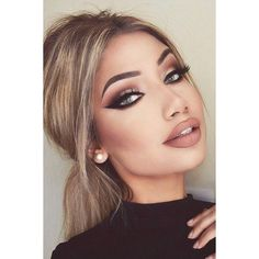 24 Perfect Cat Eye Makeup Ideas to Look Sexy ❤ liked on Polyvore featuring beauty products, makeup and eye makeup