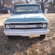 Just picked up my 'new' 1969 #chevy c20, ill be the second owner #69chevy #original (at Graham, Tx)