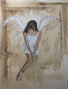"Saatchi Online Artist Greg Riddle; Painting, ""Angel02"" #art"