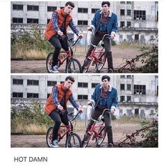 Am I the only one who thought that because of the bikes and the way they're dress this is suppose to be a Stranger Things reference?