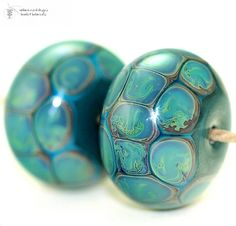 BeadsBot Blog | Glass Lampwork Beads - handmade because you are worth it!: Daily Deal - Tortoise Copper Round Lampwork Bead set
