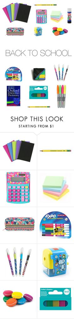 """Back to School"" by gimcdonnell ❤ liked on Polyvore featuring interior, interiors, interior design, home, home decor, interior decorating, Accessorize, Expo, Vera Bradley and International Arrivals"