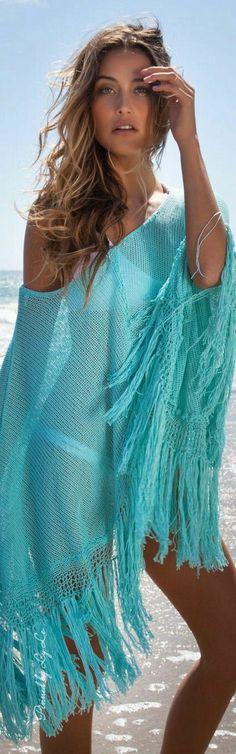 63fa823259ae5 Beach Cover Ups, Coco Chanel, Miami Style, Turquoise Fashion, Shades Of