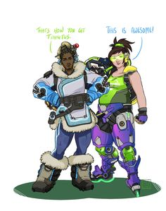 Overwatch Outfit-Swap: Lúcio and Mei [Submission by Anonymous] WOW back in the game! Sort of. This has mostly been an exercise in patience for myself, since the character I have the least amount of fun drawing is Lúcio (and only for his armour - I...