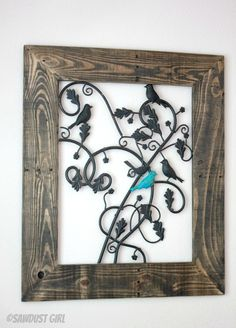 easy and beautiful artwork from a Repurposed Metal Fireplace Screen anyone can do this DIY