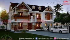 The evolution in the home industry brings new dimensions shown by the luxury two story house designs. They certainly define the architecture of today. Online Architecture, Architecture Magazines, Roof Architecture, Amazing Architecture, Front Elevation Designs, House Elevation, Bungalow House Design, Modern House Design, Two Story House Design