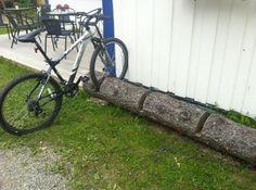 ~ naturligt cykelställ ~  Idé för cykelställ!