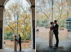 Romantic Vintage Wedding // Stephanie Naru Photography. New York City Elopement. Bridal Photography. NYC City Hall. Fall Colors. Autumn Leaves. New York wedding photographer. Vintage inspired wedding. Black suit for groom. Pretty Vintage Bride. Engagement Photographer. Lace Veil. Simple Weddings.