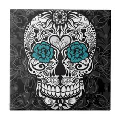 Urban Fancy Sugar Skull Fancy Flourish Tile