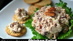 Ingredients meat pulled from 1 rotisserie chicken, or 3 cups leftover chicken shredded 1 onion, finely diced 1 cup chopped pecans 1/2 cup chopped, dried cherries 1 cup mayonnaise salt and pe…