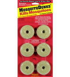Kills mosquito larvae for 30 days! Mosquito Dunks have been used by professionals for years and have proven their value by killing the larvae before they mature into biting adults.