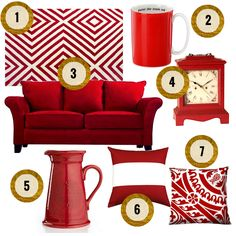 With Valentine's Day right around the corner, we're seeing red. Red Home Decor, Cute Home Decor, Hamptons Style Decor, The Hamptons, Red Accents, Home Accents, I See Red, Red Rooms, Red Walls