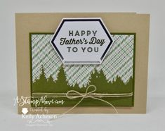 Birthday Cards For Men, Male Birthday, Stampin Up Paper Pumpkin, Pumpkin Cards, Hand Stamped Cards, Fathers Day Cards, Card Kit, Stamping Up, Cool Cards