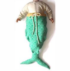 Mermaid Tail Sleeping Bag by Luna & Curious x The Miniature Knit Shop #Kids #Mermaid_Sleeping_Bag  #Luna_&_Curious #The_MIniature_Knit_shop