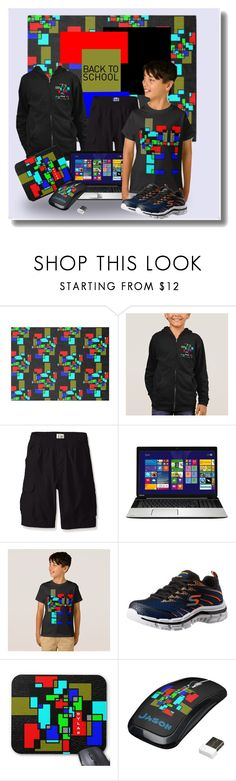 Cool Looks for Back to School by sgolis on Polyvore featuring The Children's Place, Skechers, Toshiba, modern, BackToSchool, zazzle, kidsclothing, zazzleshirt and zazzleoutfit