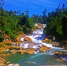 "Aliwagwag Falls also known as ""Staircase Falls"""