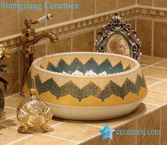 Jingdezhen art #ceramic wash #basin / unique #bathroom #sink - shengjiang  ceramic  factory   #porcelain art #handbasin wash sink Wash Basin Counter, Counter Top, Unique Bathroom Sinks, Ceramic Clay, Porcelain, Ceramics, Faucets, Tableware, Handmade