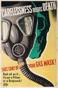 Gas Mask propaganda poster