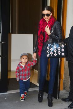 Miranda Kerr - Miranda Kerr and son Flynn Bloom go out and about in New York City